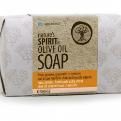 Olive oil soap with orange
